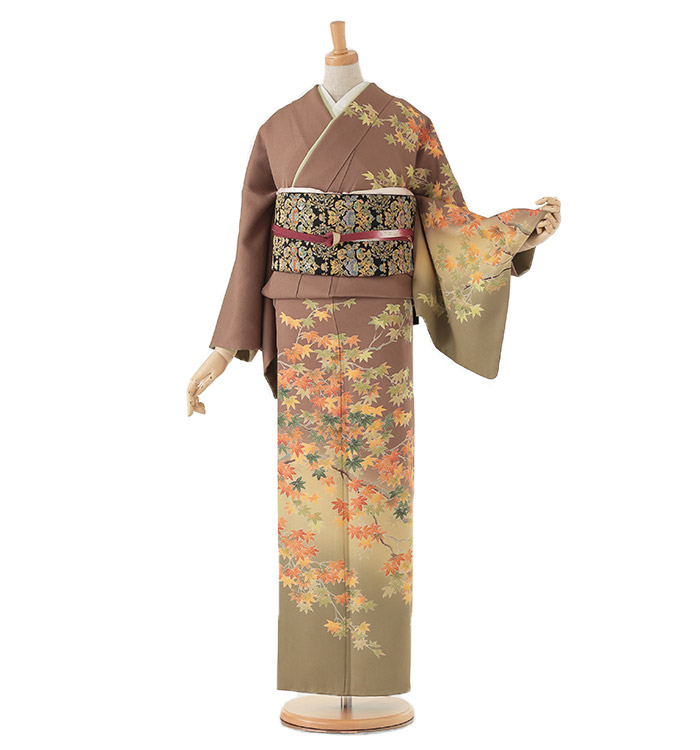 季節の着物「紅葉」 京友禅 訪問着 No.AA-0259-Lサイズ