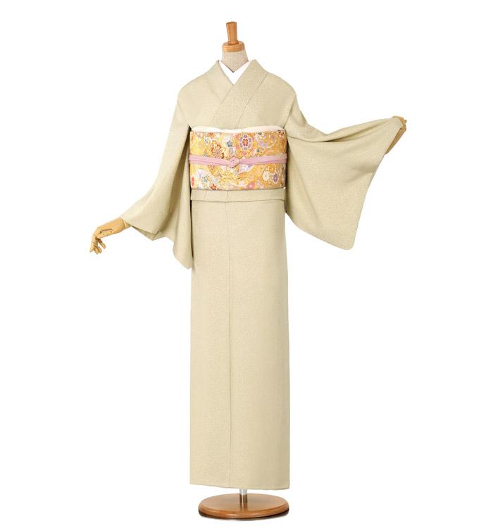 大きいサイズ 山口美術織物 色無地 No.BA-0032-MOサイズ