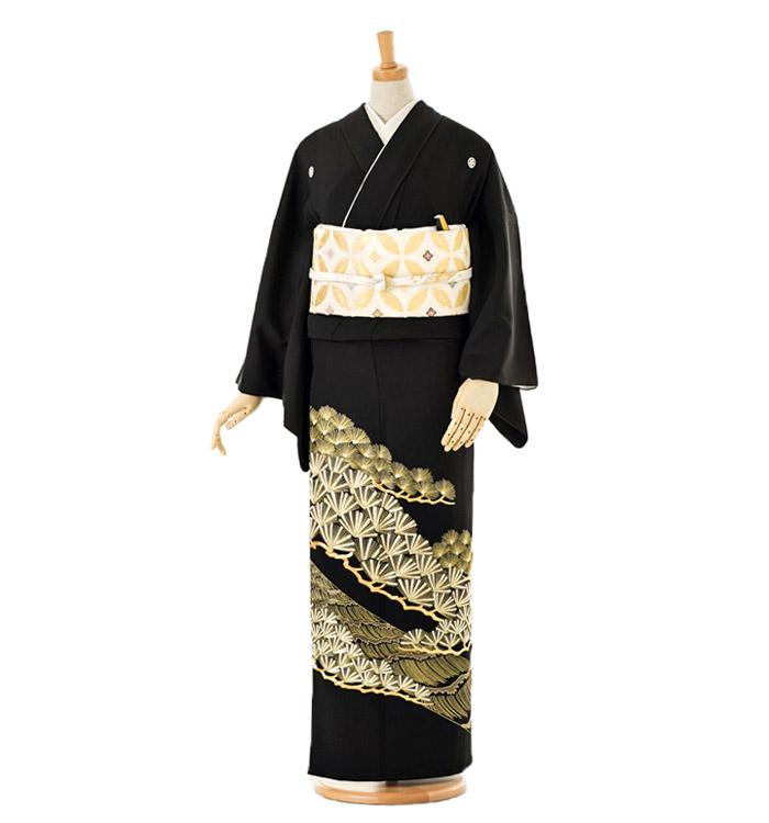 総刺繍 黒留袖 No.CA-0027-Mサイズ
