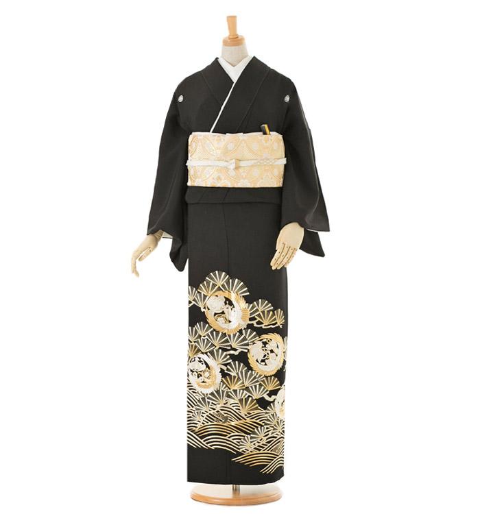 総刺繍 黒留袖 No.CA-0028-Mサイズ