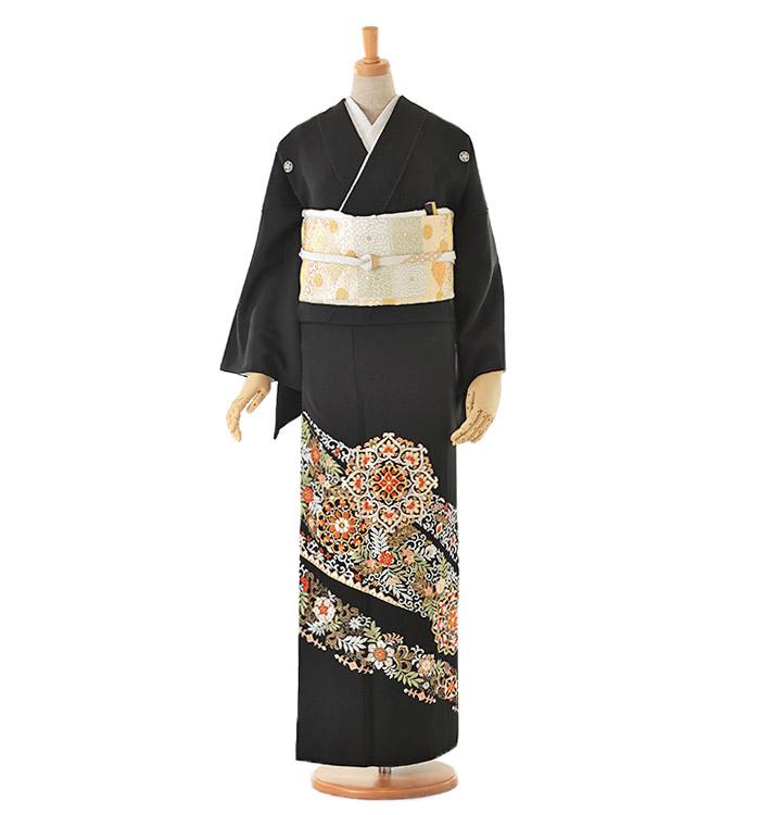 総刺繍 黒留袖 No.CA-0029-Mサイズ