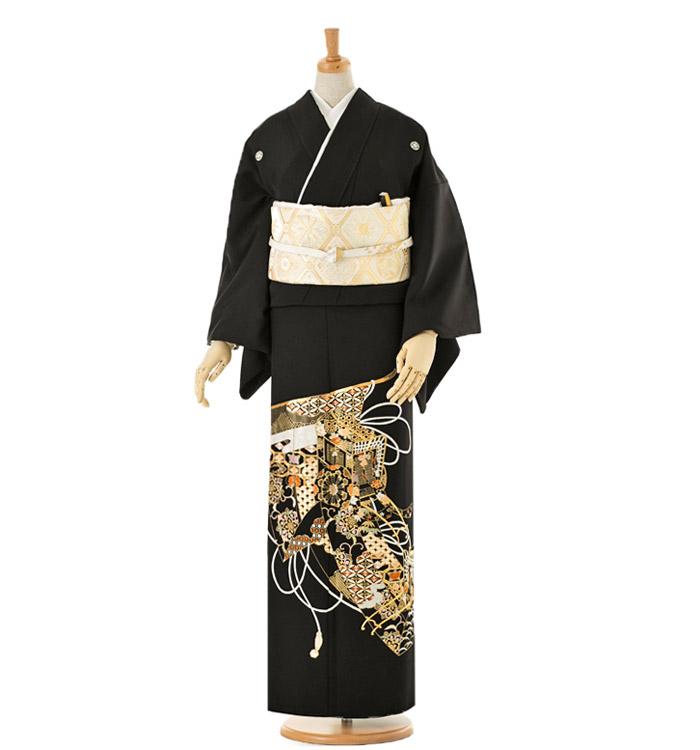 総刺繍 黒留袖 No.CA-0030-Mサイズ
