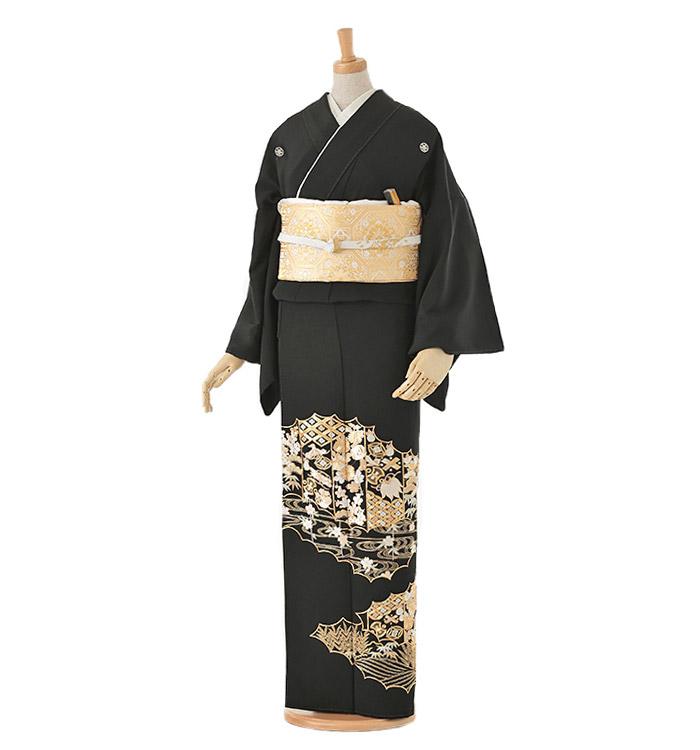 総刺繍 黒留袖 No.CA-0032-Mサイズ