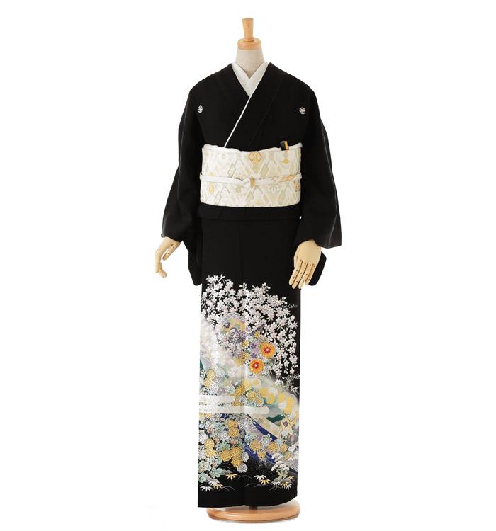 関芳 黒留袖 No.CA-0037-Lサイズ