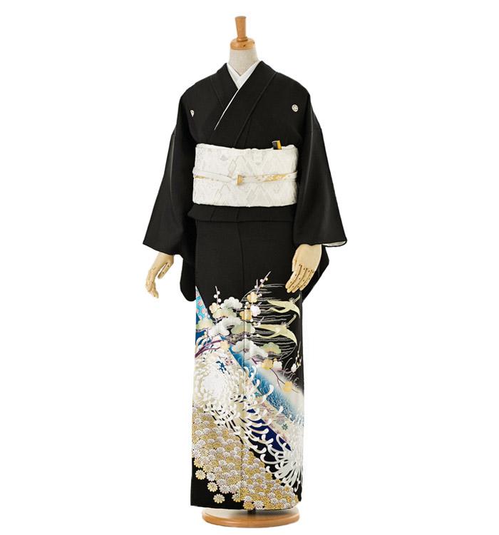 関芳 黒留袖 No.CA-0039-Mサイズ