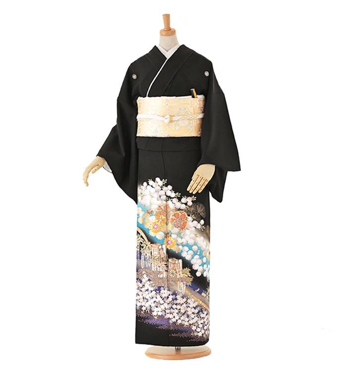 関芳 黒留袖 No.CA-0040-Lサイズ