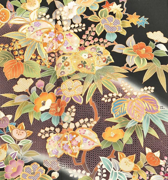 スワトウ刺繍 黒留袖 No.CA-0051-Lサイズ_05
