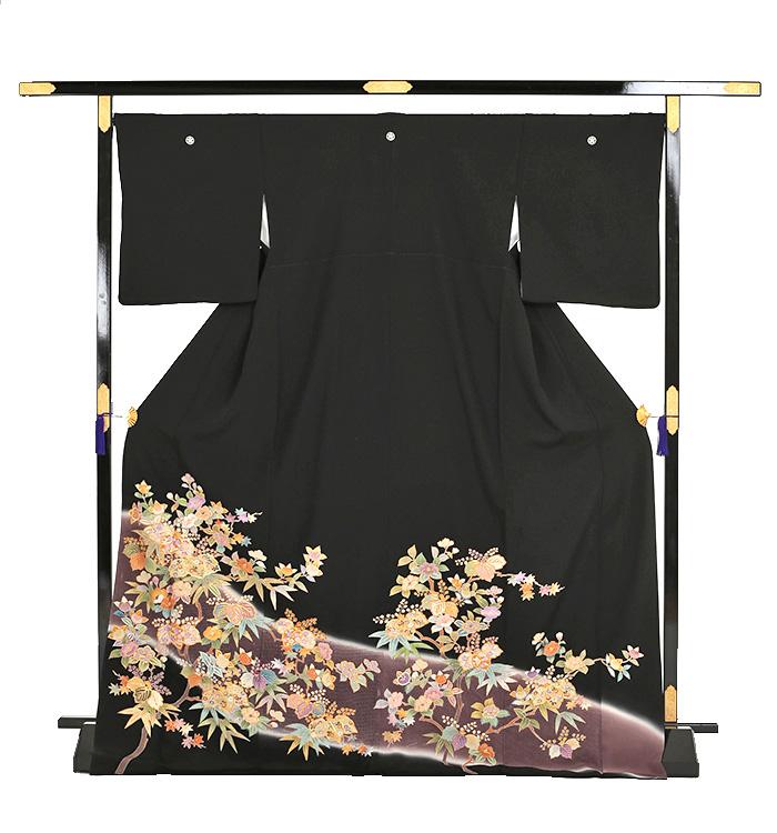 スワトウ刺繍 黒留袖 No.CA-0051-Lサイズ_03