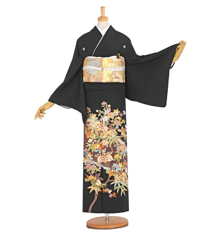 スワトウ刺繍 黒留袖 No.CA-0051-Lサイズ
