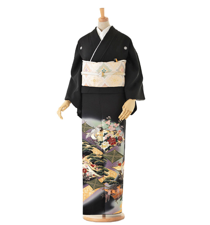 Kansai 黒留袖 No.CA-0111-Mサイズ