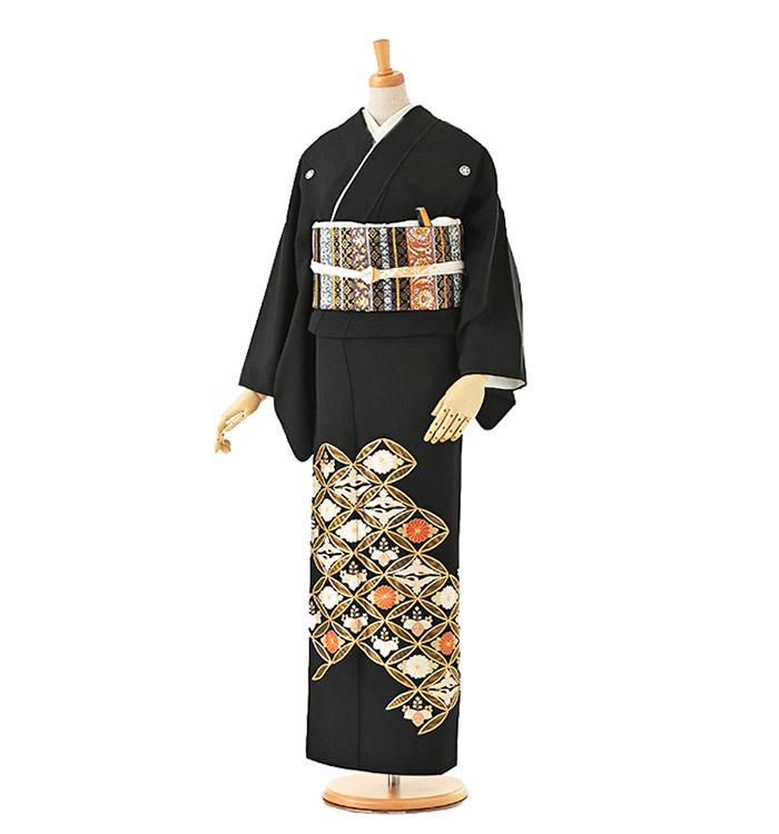 総刺繍 黒留袖 No.CA-0128-Lサイズ