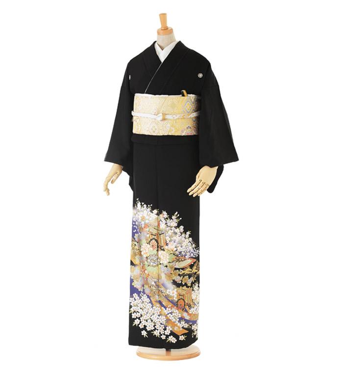 関芳 大きいサイズ 黒留袖 No.CA-0142-LOサイズ