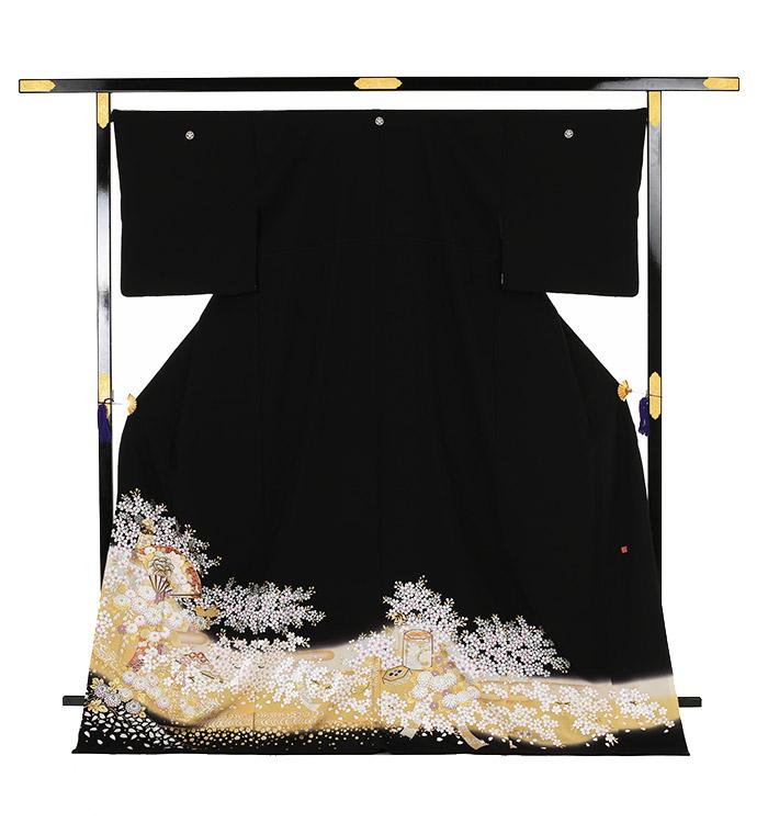 関芳 大きいサイズ 黒留袖 No.CA-0144-LOサイズ_03