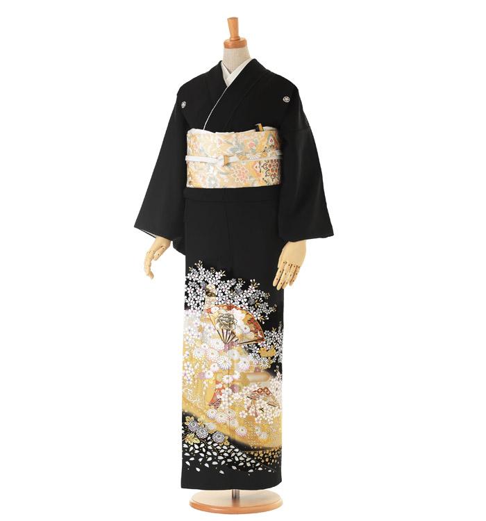 関芳 大きいサイズ 黒留袖 No.CA-0144-LOサイズ