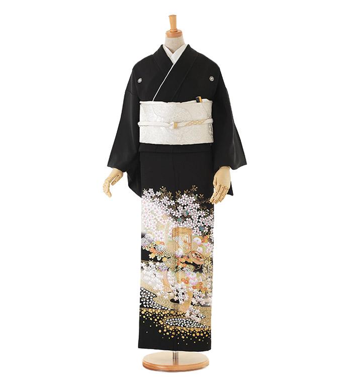 関芳 大きいサイズ 黒留袖 No.CA-0145-MOサイズ