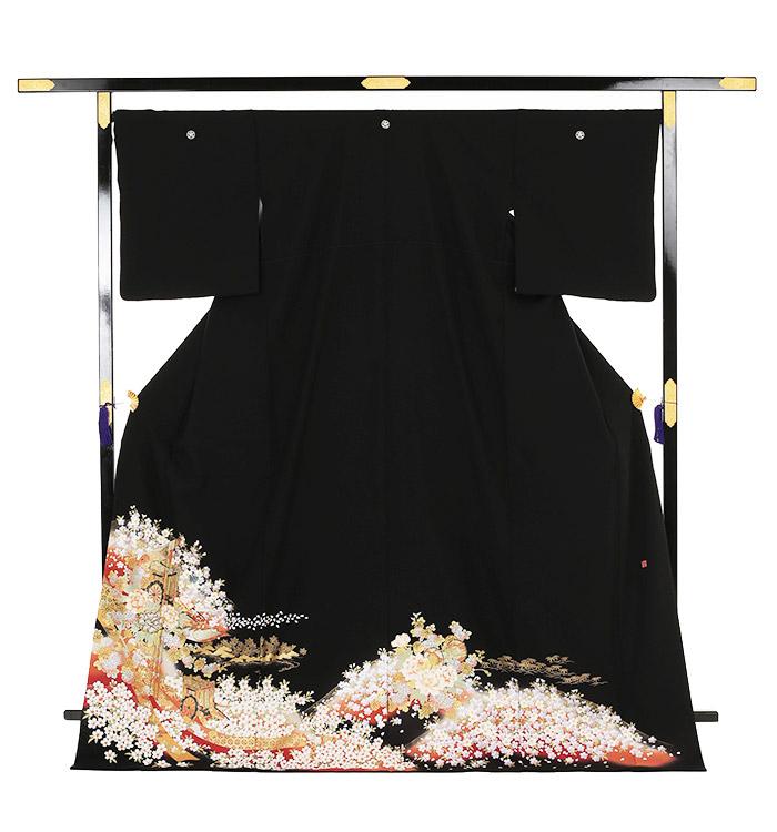 関芳 大きいサイズ 黒留袖 No.CA-0146-LOサイズ_03