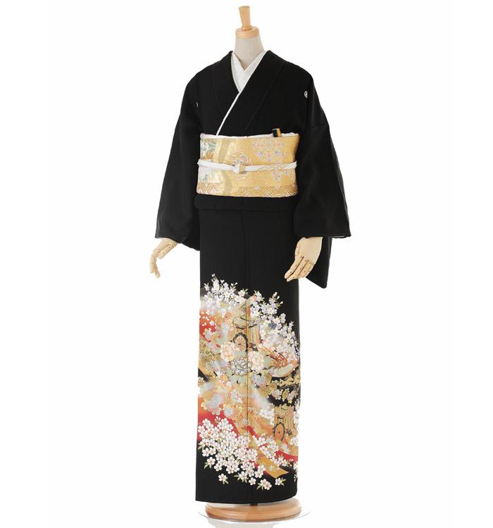 関芳 大きいサイズ 黒留袖 No.CA-0146-LOサイズ