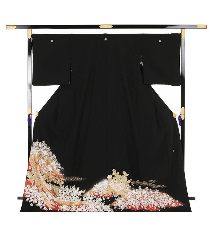 関芳 大きいサイズ 黒留袖 No.CA-0148-LOサイズ_03