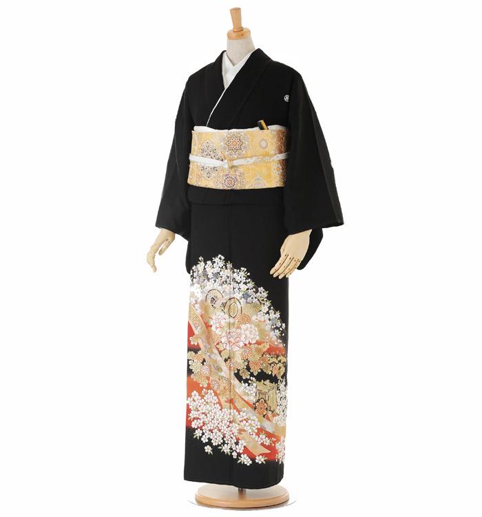 関芳 大きいサイズ 黒留袖 No.CA-0148-LOサイズ