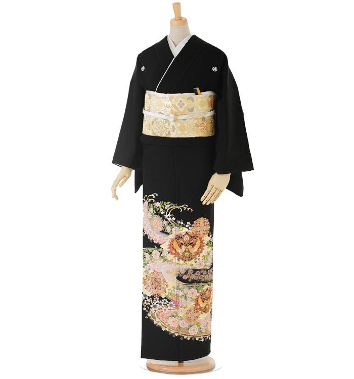 大きいサイズ 黒留袖 No.CA-0150-LOサイズ