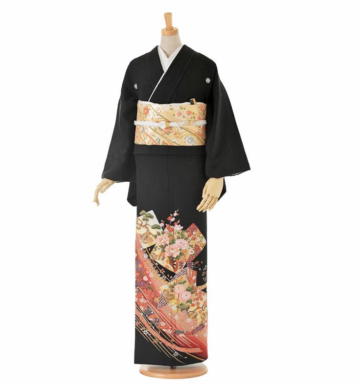 大きいサイズ 黒留袖 No.CA-0158-LOサイズ