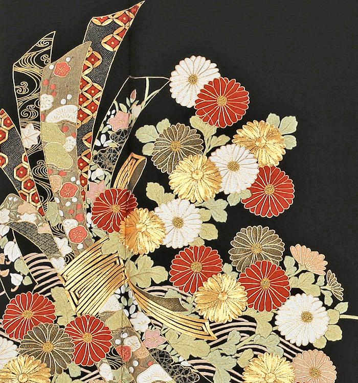 トールサイズ 総刺繍 黒留袖 No.CA-0167-LLサイズ_05