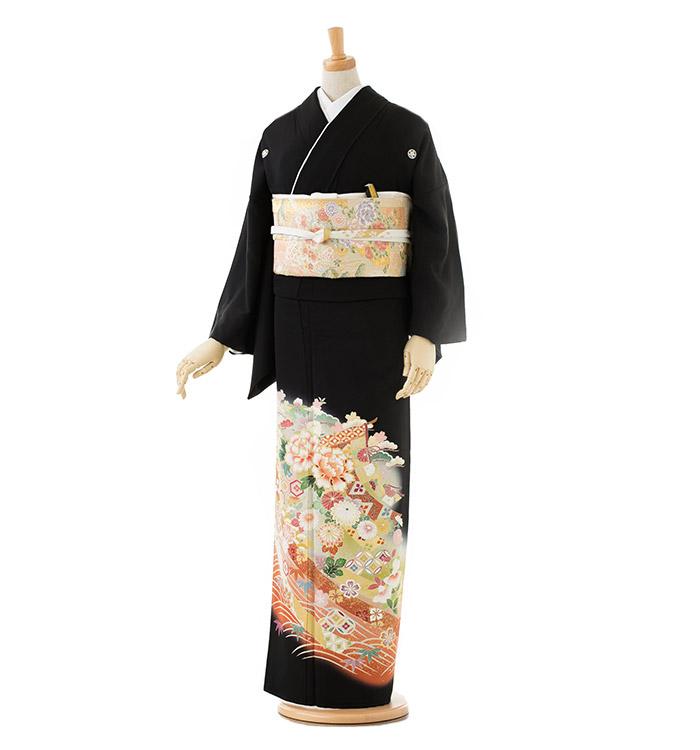 大きいサイズ 黒留袖 No.CA-0180-LOサイズ