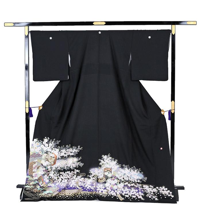 関芳 大きいサイズ 黒留袖 No.CA-0213-LOサイズ_03