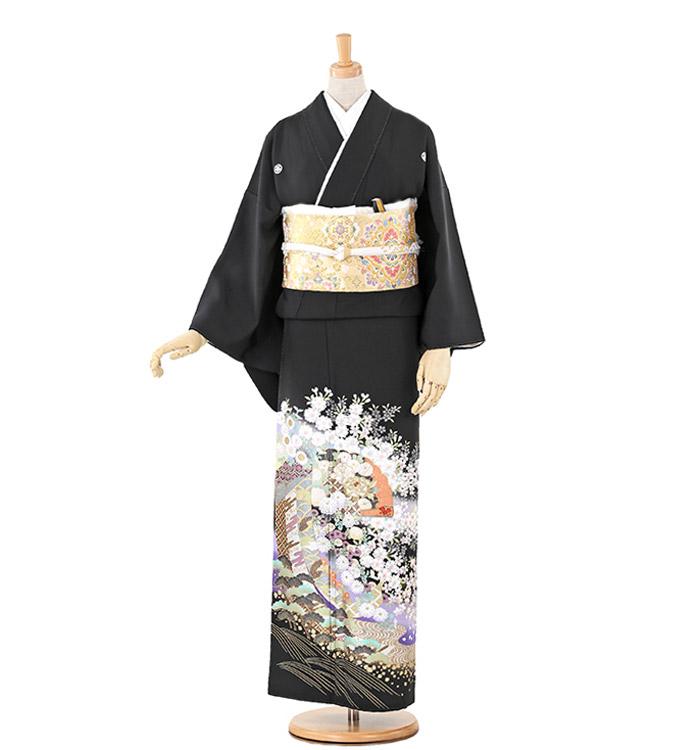 関芳 大きいサイズ 黒留袖 No.CA-0213-LOサイズ