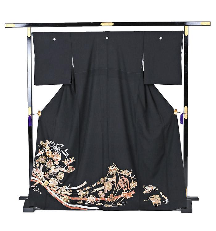総刺繍 大きいサイズ 黒留袖 No.CA-0240-MOサイズ_03