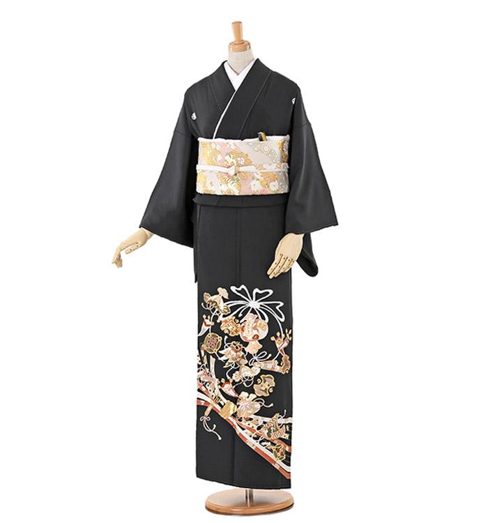総刺繍 大きいサイズ 黒留袖 No.CA-0240-MOサイズ