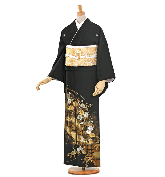 山口美術織物 黒留袖 No.CA-0256-Mサイズ