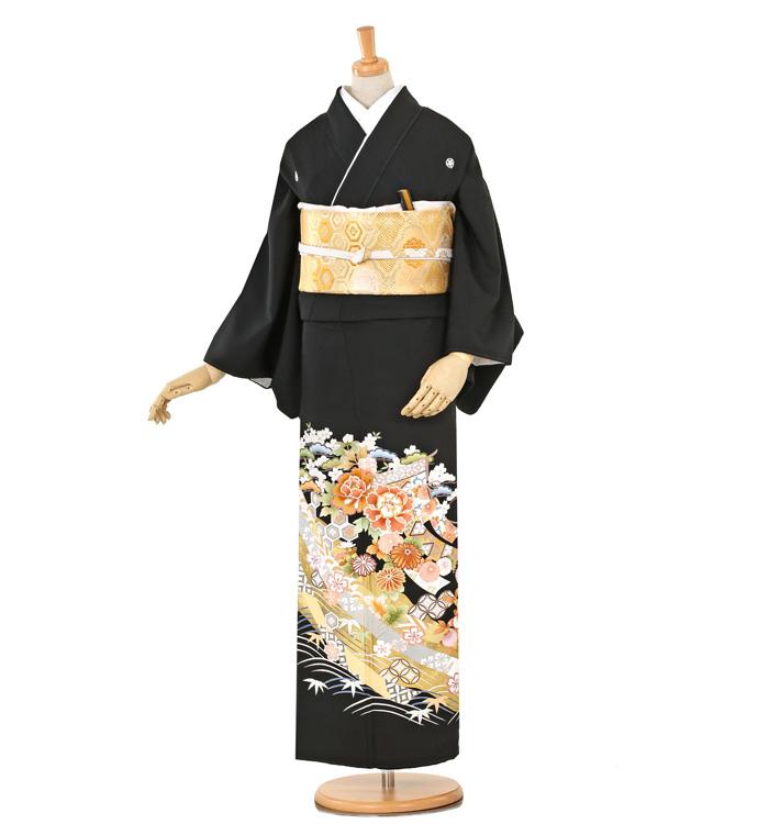 京友禅 大きいサイズ 黒留袖 No.CA-0259-MOサイズ