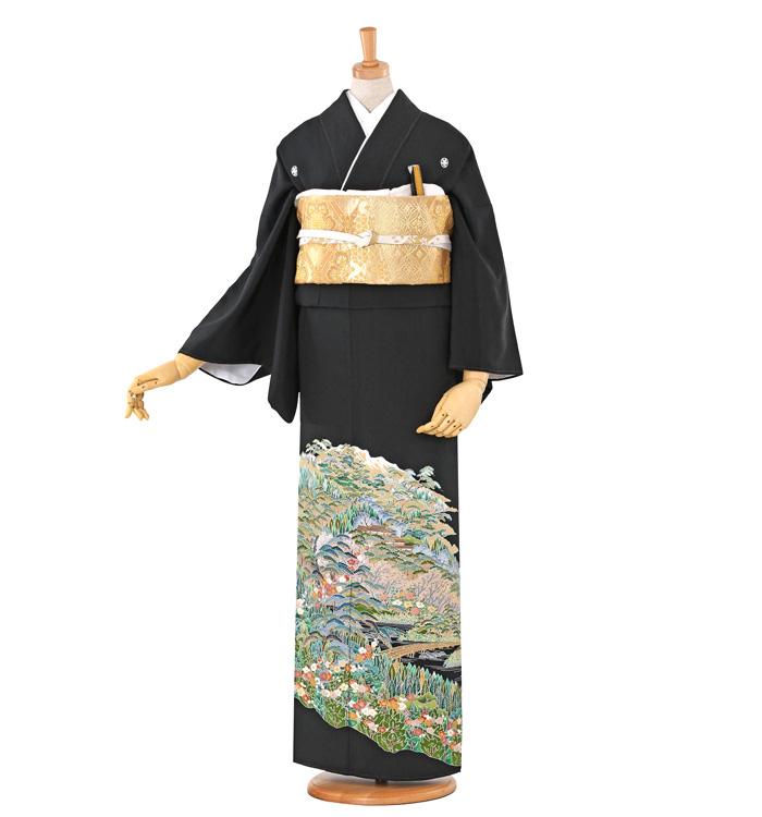 刺繍 黒留袖 No.CA-0510-M