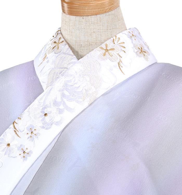 刺繍半衿付き正絹長襦袢-Mサイズ No.ZA-5701-02