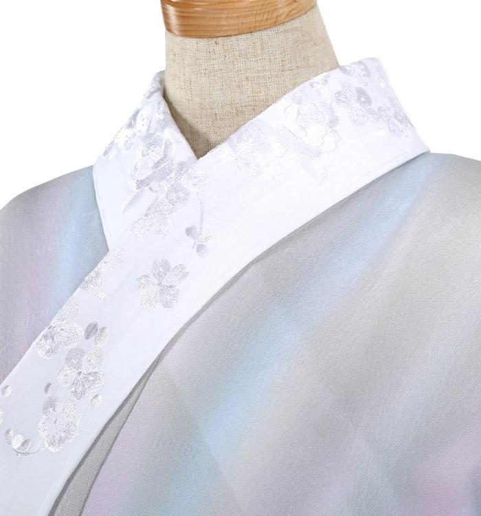 刺繍半衿付き正絹長襦袢-Mサイズ No.ZA-5702-02