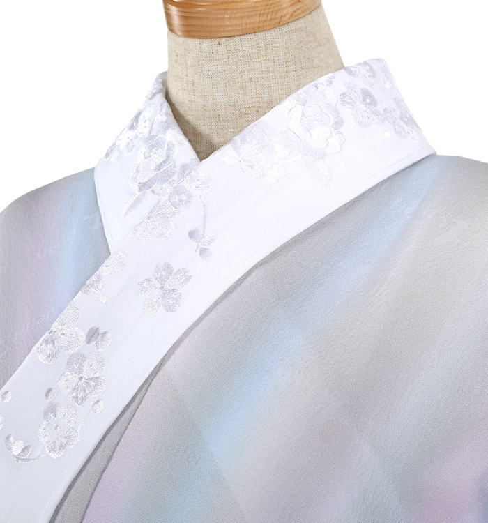 刺繍半衿付き正絹長襦袢-M No.ZA-5702-02