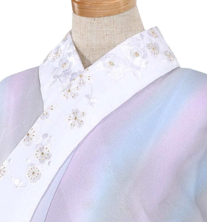 刺繍半衿付き正絹長襦袢-Mサイズ No.ZA-5703-02
