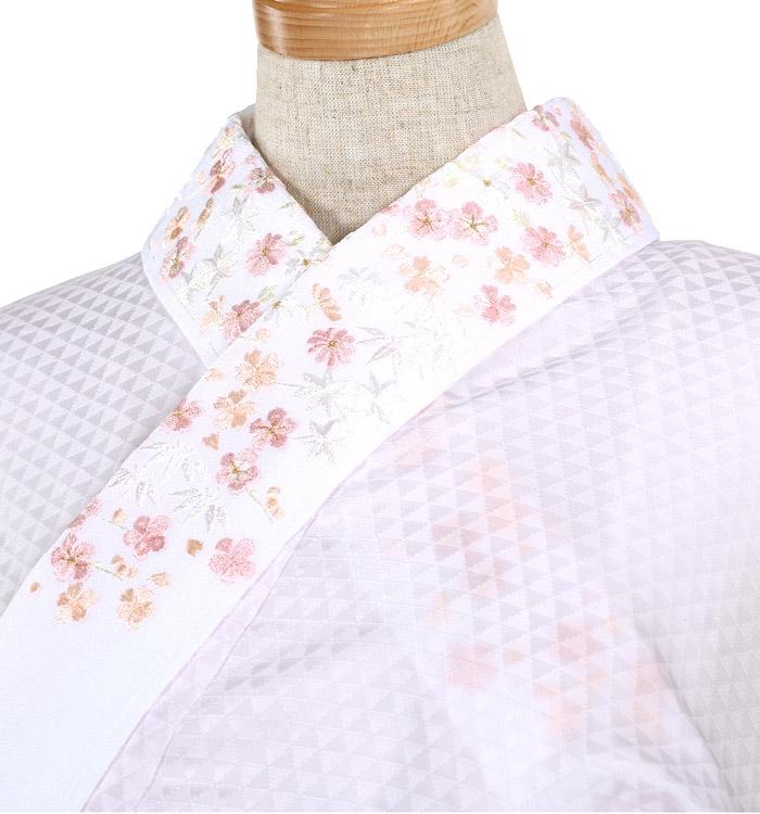 刺繍半衿付き正絹長襦袢-Mサイズ No.ZA-5704-02