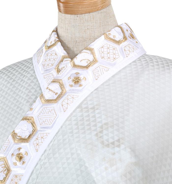 刺繍半衿付き正絹長襦袢-Lサイズ No.ZA-5705-03