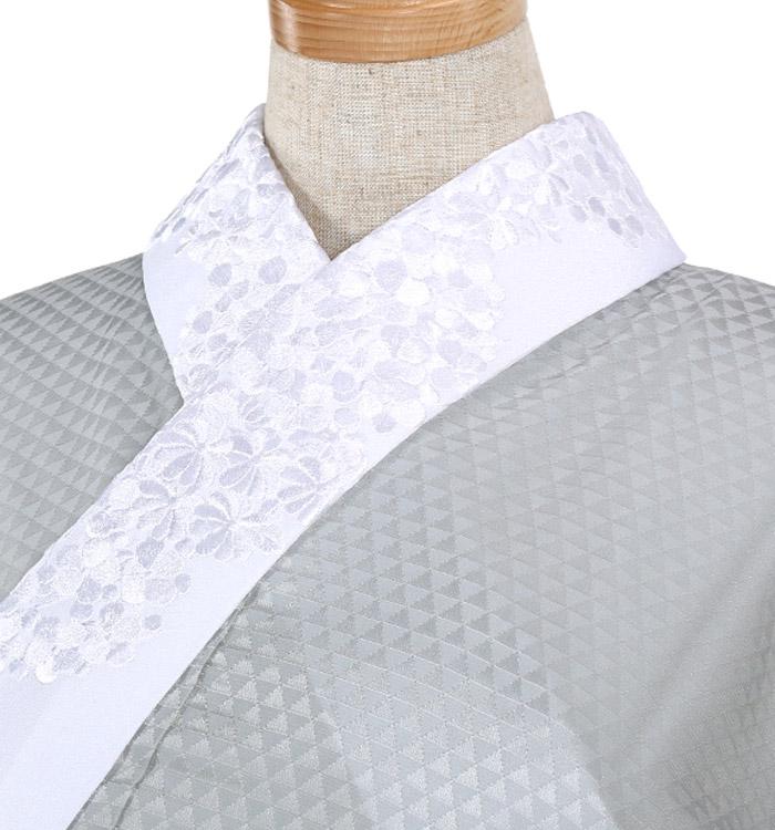 刺繍半衿付き正絹長襦袢-Lサイズ No.ZA-5707-03