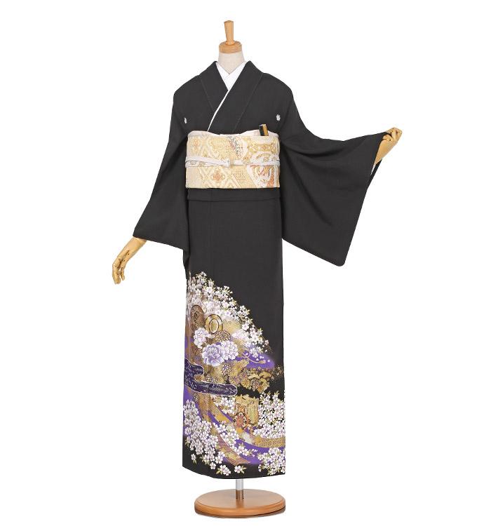 関芳 大きいサイズ 黒留袖 No.CA-0957-MO
