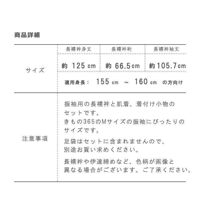 振袖用【3,000円以上お得!】Mサイズ長襦袢がついた着付け小物14点セット 肌着付き No.5ZA-0104-02_13