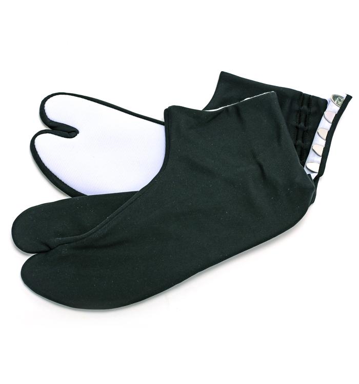 メンズ カラー足袋 黒 紳士用ナイロンストレッチ足袋 LLサイズ 26.5~27cm 5枚こはぜ No.5ZB-0021-34