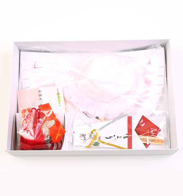 お宮参り衣装用帽子セット 女児  4点セット No.5ZE-0159-00