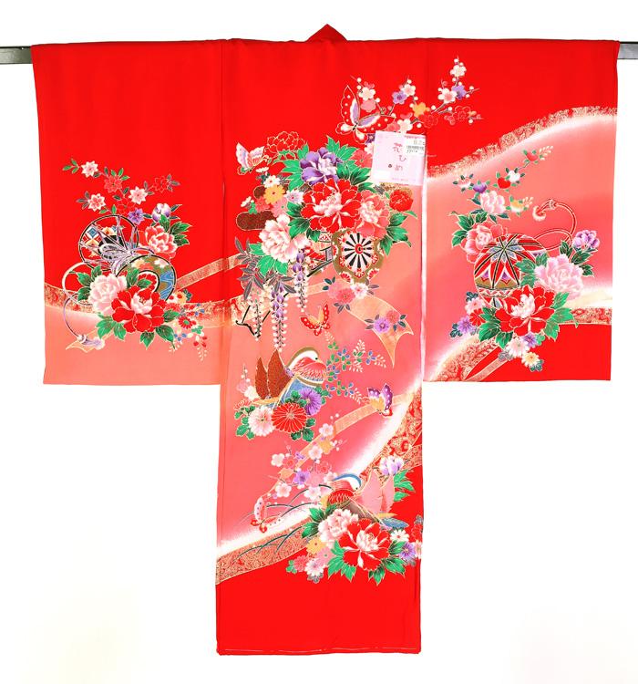 お宮参り衣装 掛け衣装 女児熨斗目 No.5ZH-0002-00