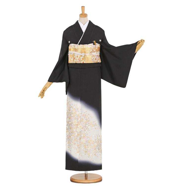 縫い取り黒留袖 No.CA-1032-M