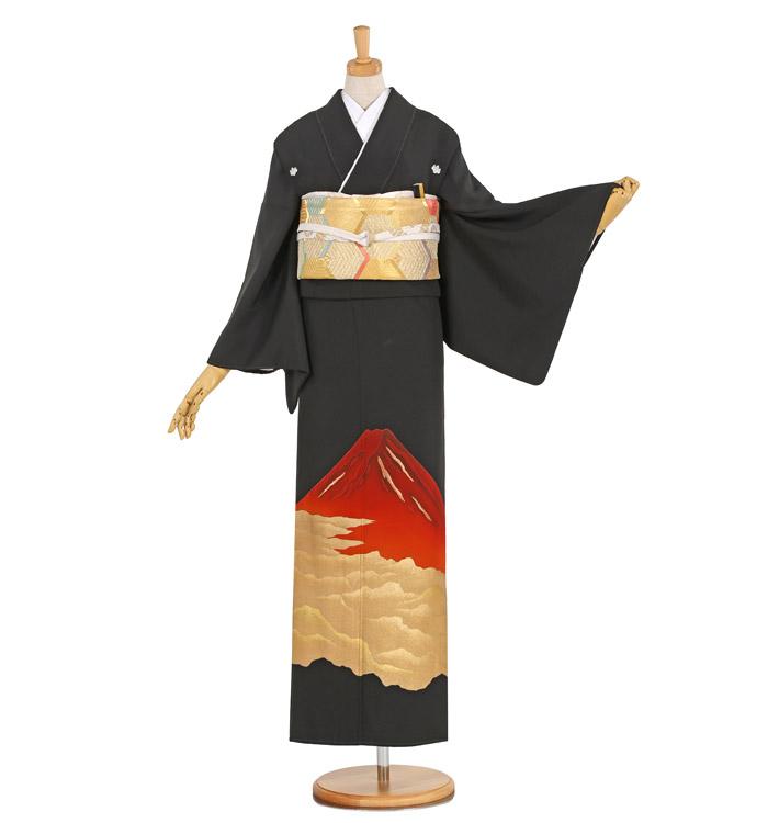 赤富士 黒留袖 No.CA-1035-L