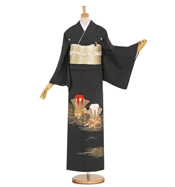 縫い取り 黒留袖 No.CA-1036-Lサイズ