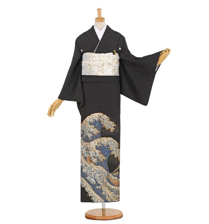 桂由美 大きいサイズ 黒留袖 No.CA-1040-MO